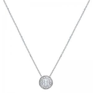 Colgante con cadena orla oro blanco 1ª ley y diamantes. - REF. N-5293/2CA