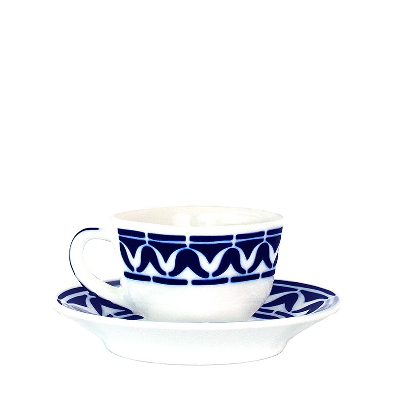 Taza café con plato Armañá 3 de Sargadelos. - REF. 02842193 - Movil
