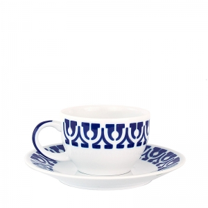 Taza té con plato Portico A de Sargadelos. - REF. CA-31108293