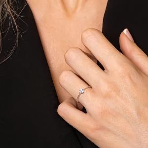 Anillo oro blanco 1ª ley y pavé 7 diamantes 0,06 ct - REF. N-2374/1S 1