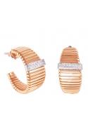 Producto anterior Pendientes aros tubogas en oro rosa de 1ª ley y 30 diamantes. - REF. 461600