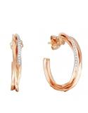 Producto anterior Pendientes aros en oro rosa de 1ª ley y 26 diamantes. - REF. 461356