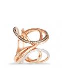 Producto anterior Sortija aros en oro rosa de 1ª ley y 54 diamantes. - REF. 435024