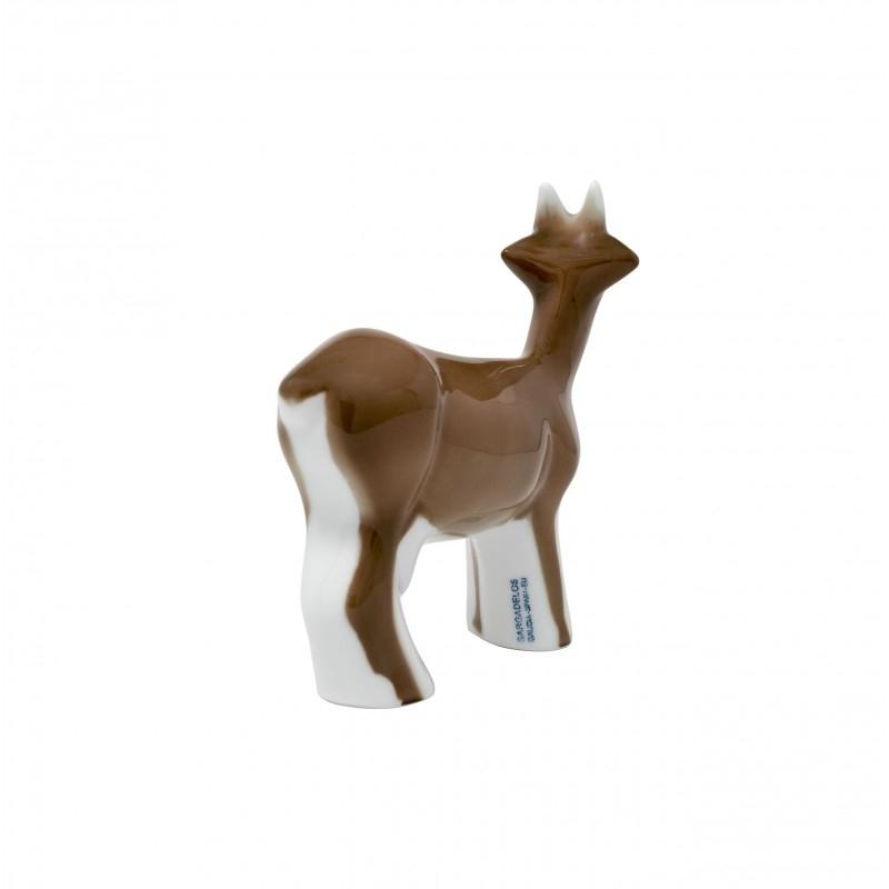 Figura Cabra marrón de Sargadelos. - REF. 33200014 - Movil