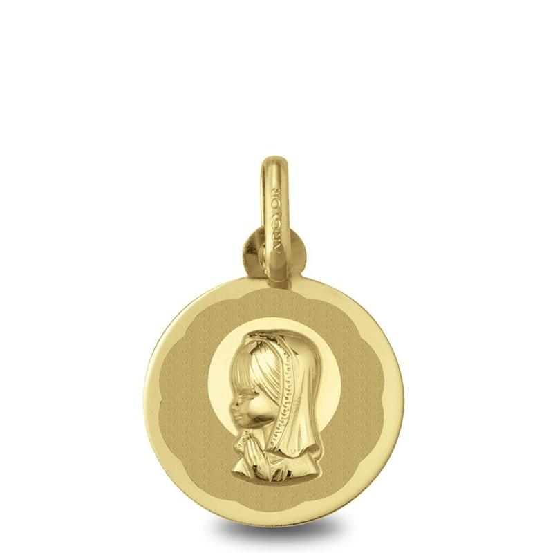 Medalla Virgen Niña oro 1ª ley. - REF. 1910104/06 - Movil