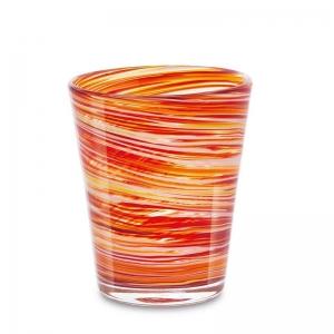 Set 6 vasos cristal naranja. - REF. SET-25031