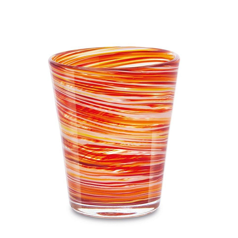 Set 6 vasos cristal naranja. - REF. SET-25031 - Movil