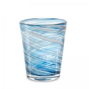 Set 6 vasos cristal celeste. - REF. SET-25032