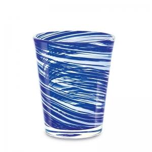 Set 6 vasos cristal azul. - REF. SET-25034