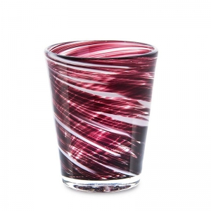 Set 6 vasos cristal granate. - REF. SET-25035