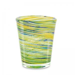 Set 6 vasos cristal verde. - REF. SET-25037