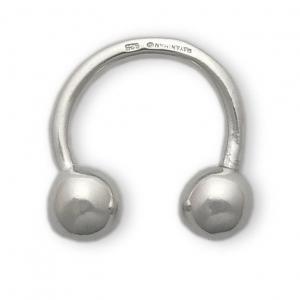Llavero bolas rígido de plata. - REF. 581-17