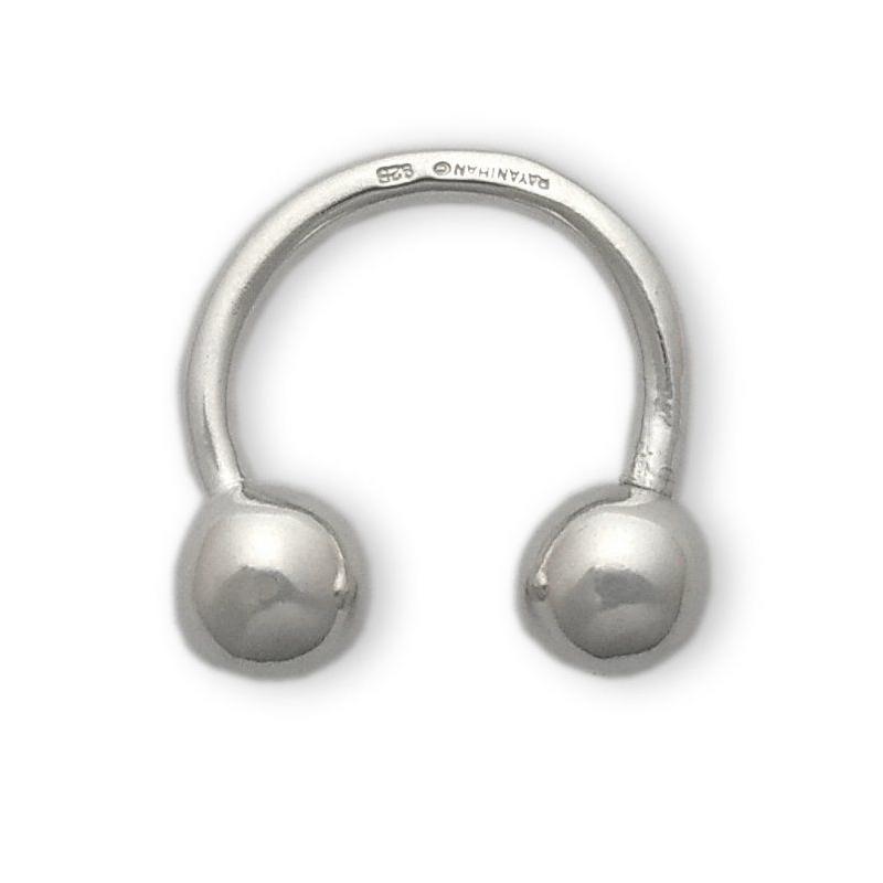 Llavero bolas rígido de plata. - REF. 581-17 - Movil