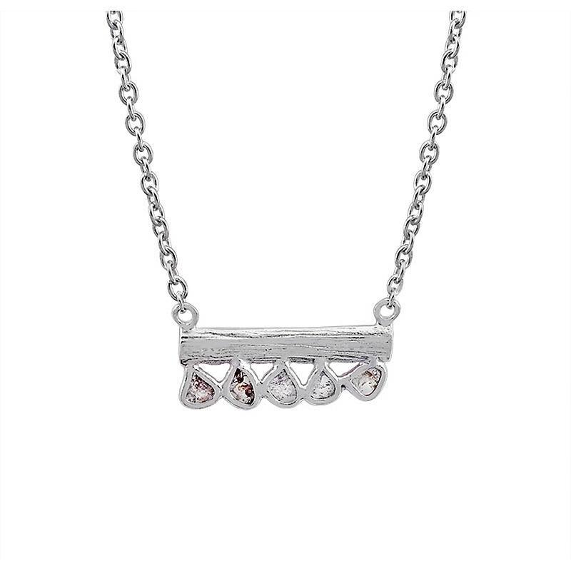 Gargantilla Sparkles de plata rodiada y diamantes. - REF. CL-129-0002D - Movil