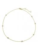 Producto anterior Gargantilla Sparkles de plata chapada en oro amarillo y con diamantes. - REF. CL-129-834DO