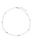 Producto anterior Gargantilla Sparkles de plata rodiada y con diamantes. - REF. CL-129-834D