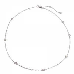 Gargantilla Sparkles de plata rodiada y con diamantes. - REF. CL-129-834D