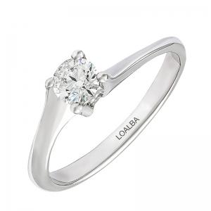 Anillo compromiso oro blanco 1ª ley y diamante 0,34 ct. - REF. N-7238S