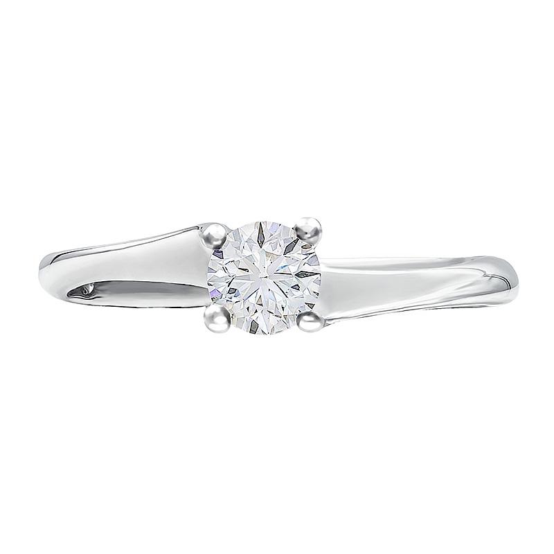 Anillo compromiso oro blanco 1ª ley y diamante 0,34 ct. - REF. N-7238S - Movil