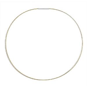 Gargantilla 3 hilos acero color plata/oro amarillo con cierre de plata. - REF. GR-71-0003OHD