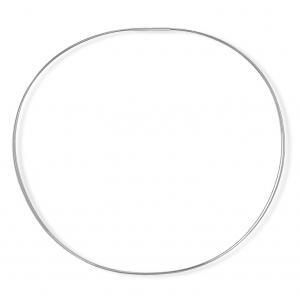 Gargantilla 3 hilos de acero color plata con cierre de plata. - REF. GR-71-0003HD