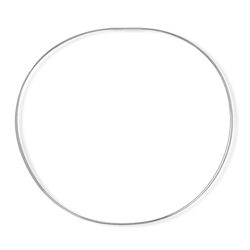 Gargantilla 3 hilos de acero color plata con cierre de plata. - REF. GR-71-0003HD - Movil