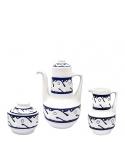 Producto anterior Garnitura café Azul Peixes de Sargadelos. - REF. 31310101G