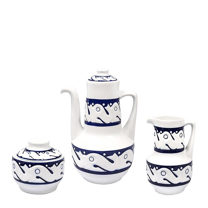 Garnitura café Azul Peixes de Sargadelos. - REF. 31310101G - Movil