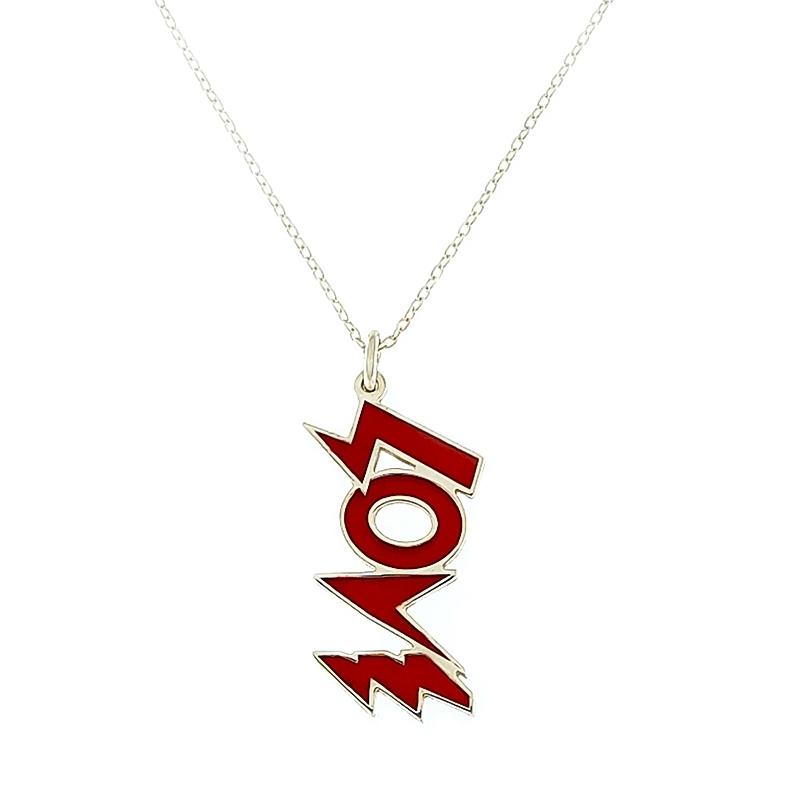 Colgante Love rojo con cadena. - REF. N-8004BC001 - Movil