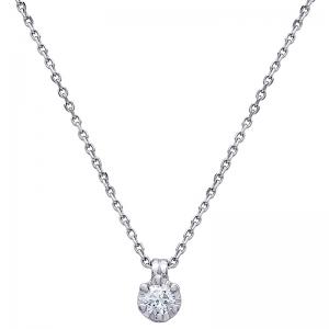Colgante con cadena oro blanco de 1ª ley y diamante. - REF. TRA-143/2CA