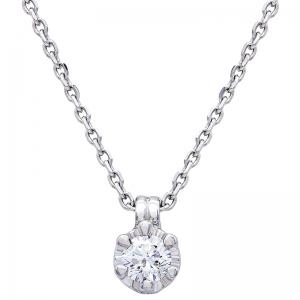 Colgante con cadena oro blanco de 1ª ley y diamante. - REF. TRA-143/2CA 1
