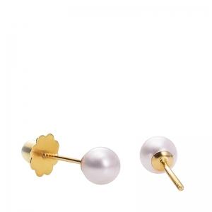 Pendientes de oro 1ª ley y perla cultivada. - REF. 26311