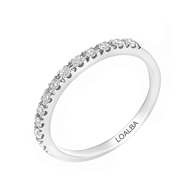 Anillo oro blanco 1ª ley y 12 diamantes 0,17 ct - REF. N-7192/2S - Movil