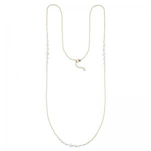 Collar largo Pearl de plata 1ª ley dorada. - REF. 00510056