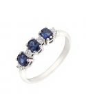 Producto anterior Anillo oro blanco 1ª ley, zafiros y diamantes. - REF. N-7341BZS