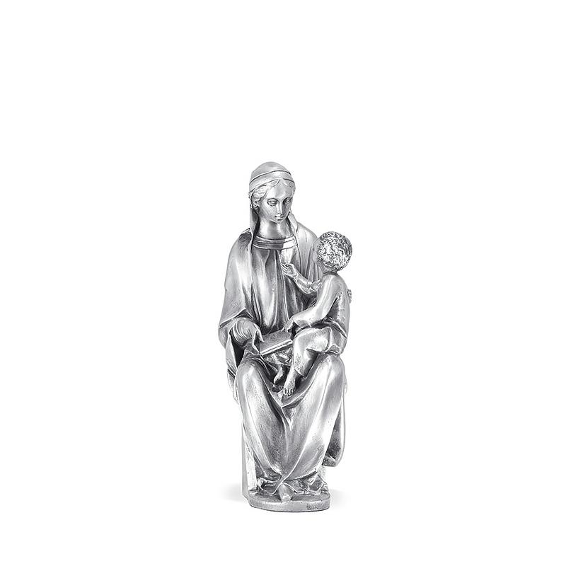 Figura Virgen Cánigo pequeña bañada en plata. - REF. 1031P - Movil