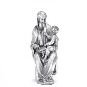 Figura Virgen Cánigo grande bañada en plata. - REF. 1030P