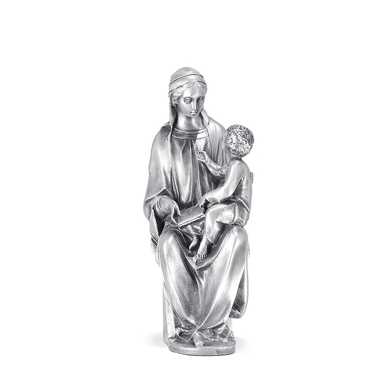 Figura Virgen Cánigo grande bañada en plata. - REF. 1030P - Movil
