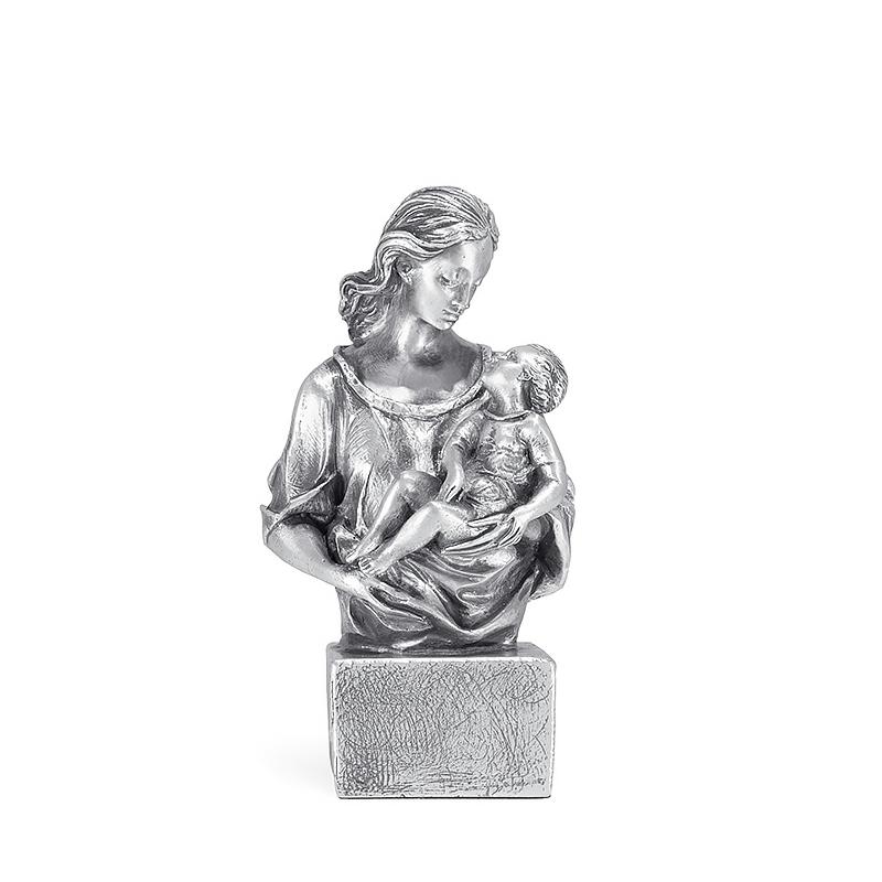 Figura Caricia bañada en plata. - REF. 1013P - Movil